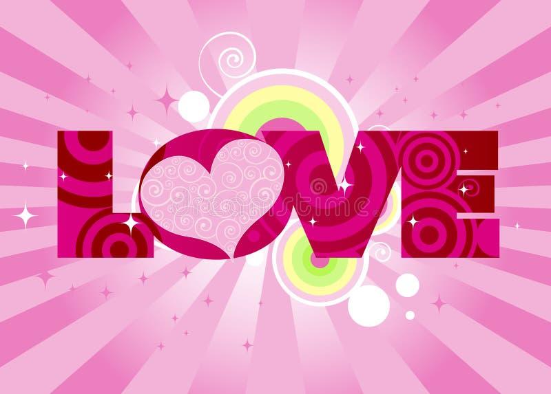 爱 向量例证