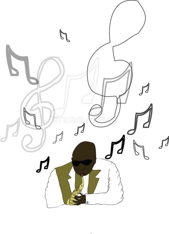 爵士乐人 向量例证