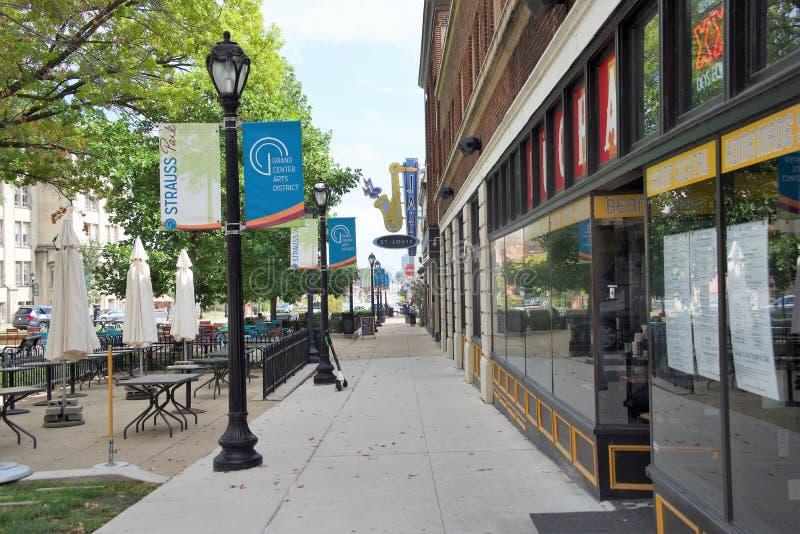 爵士乐哈罗德和Dorthy管家中心在艺术区,圣路易斯,密苏里 库存照片