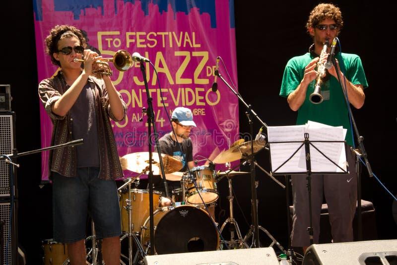 爵士乐在蒙得维的亚 免版税库存图片