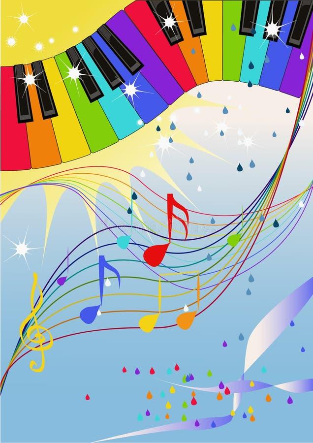 爵士乐彩虹 向量例证