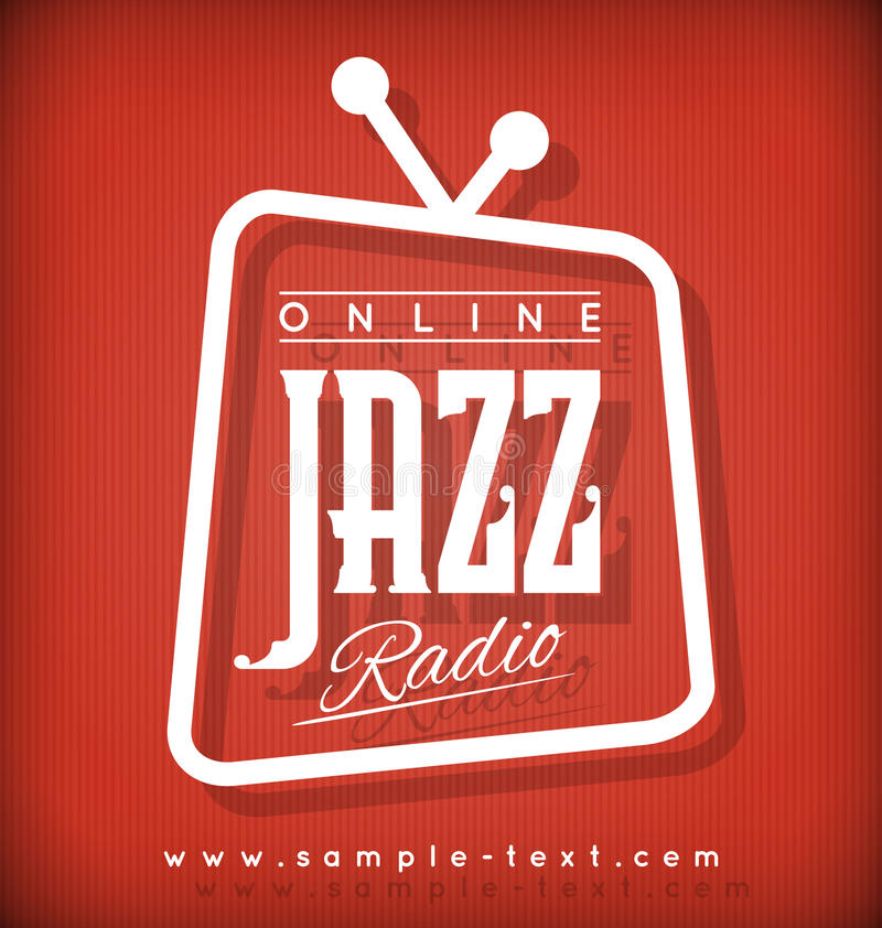 爵士乐收音机 向量例证