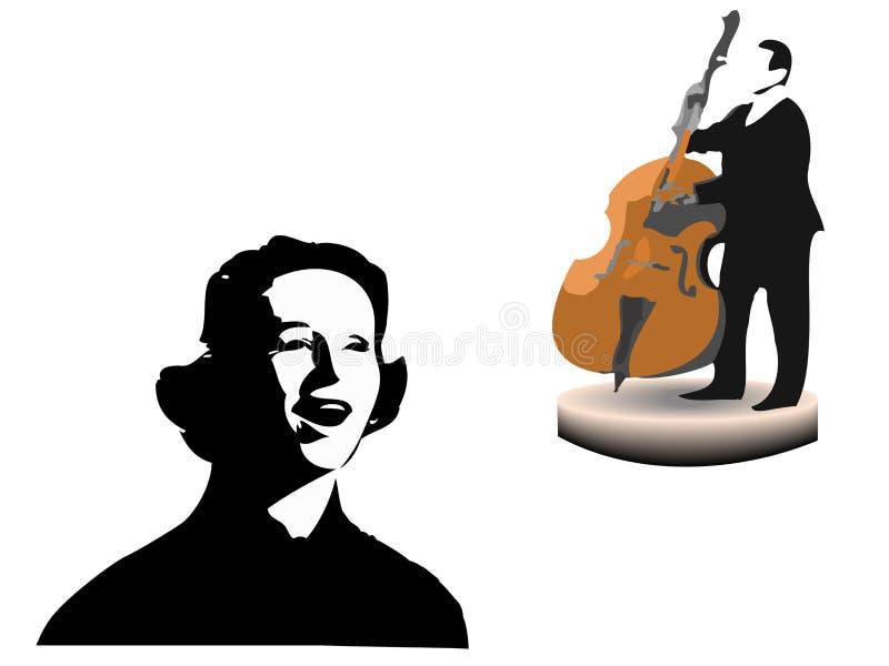 爵士乐歌唱家 向量例证
