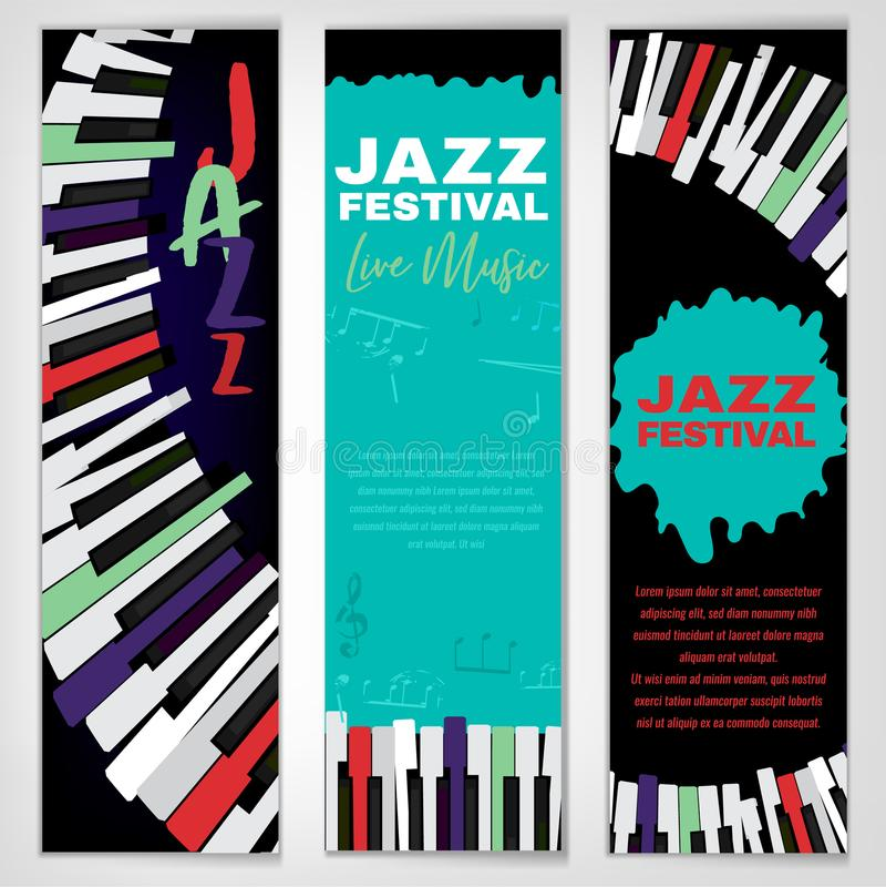 爵士乐海报集合 向量例证