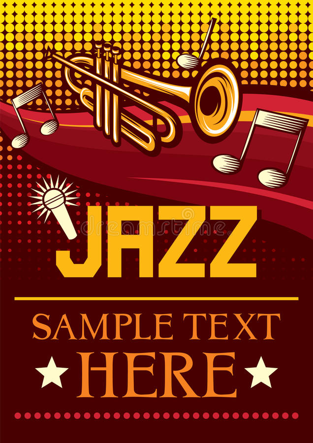 爵士乐海报 免版税图库摄影