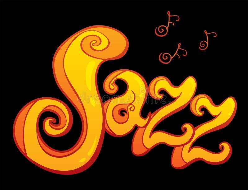 爵士乐的符号 库存例证