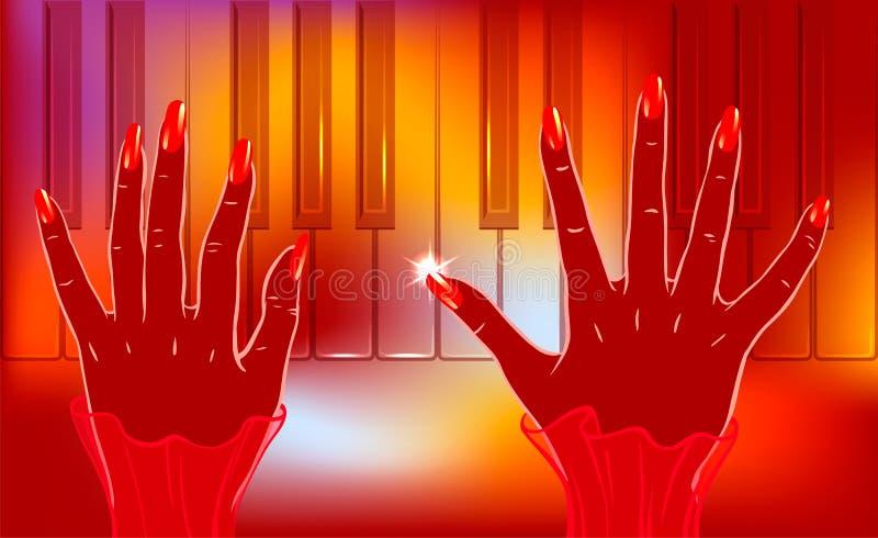 爵士乐钢琴演奏者 皇族释放例证