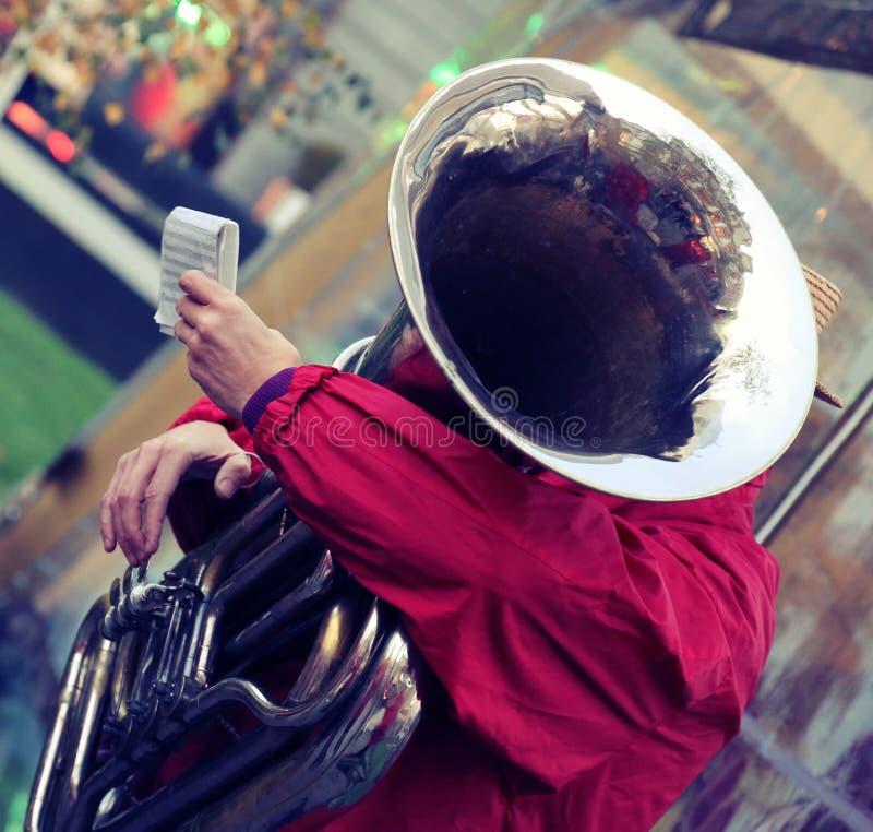 爵士乐队的表现 图库摄影