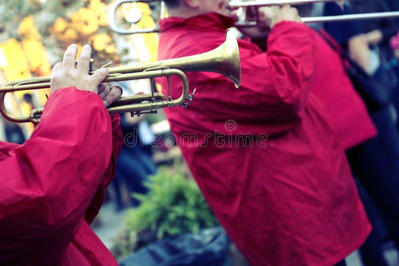 爵士乐队的表现 免版税图库摄影