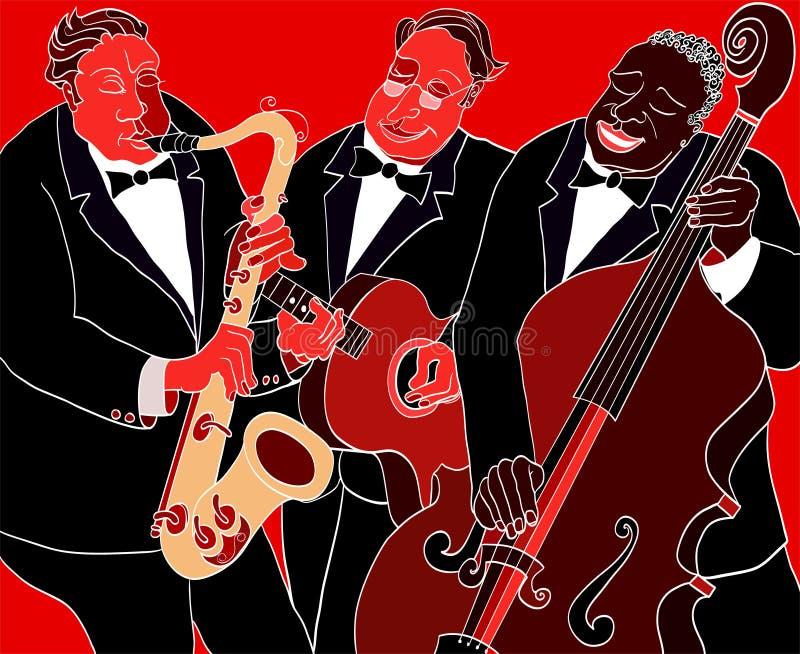 爵士乐队 向量例证
