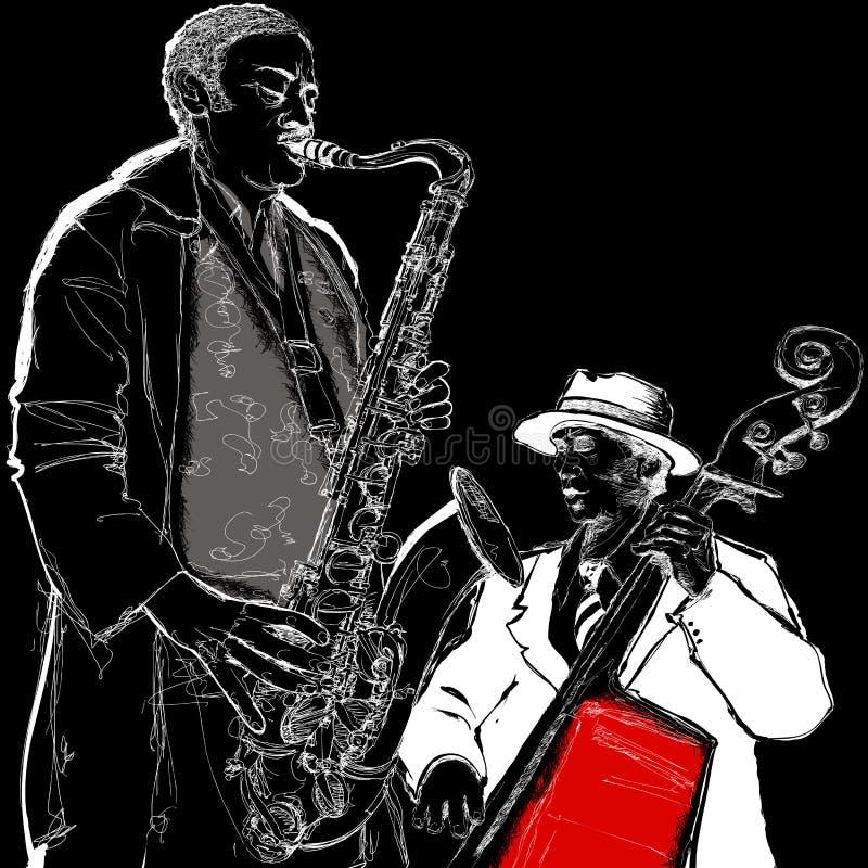 爵士乐队 皇族释放例证