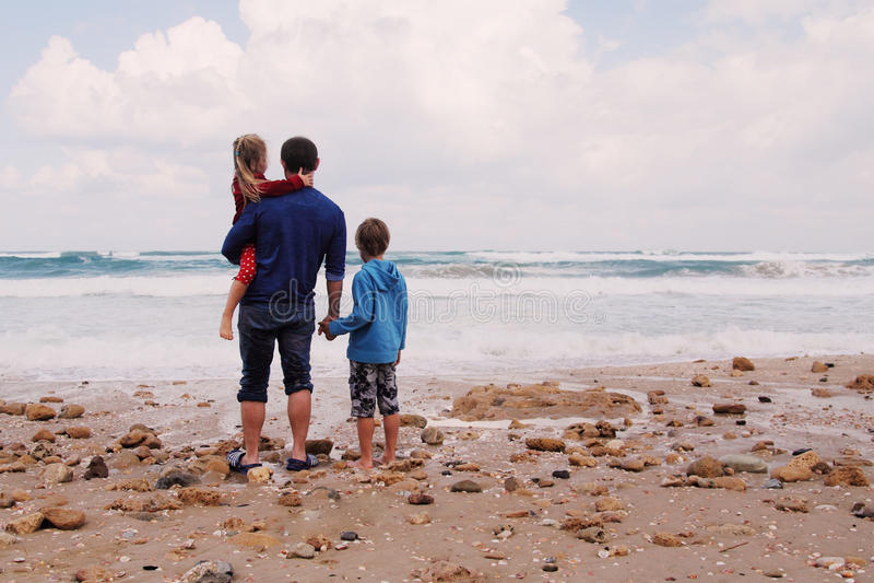 父亲、儿子和女儿 免版税图库摄影