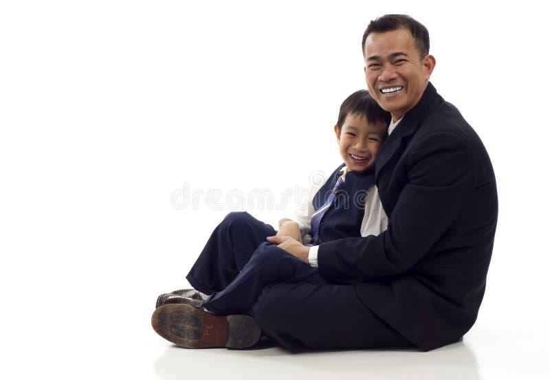 父亲儿子 图库摄影