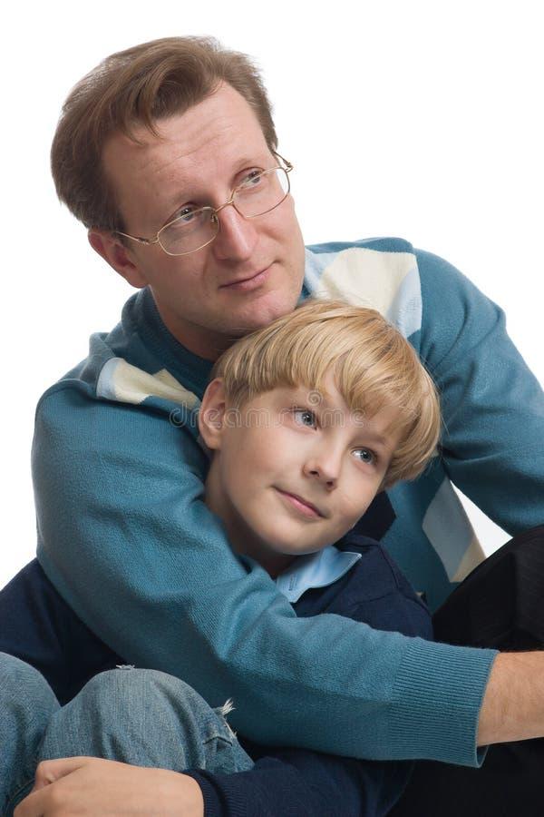 父亲儿子 免版税库存图片