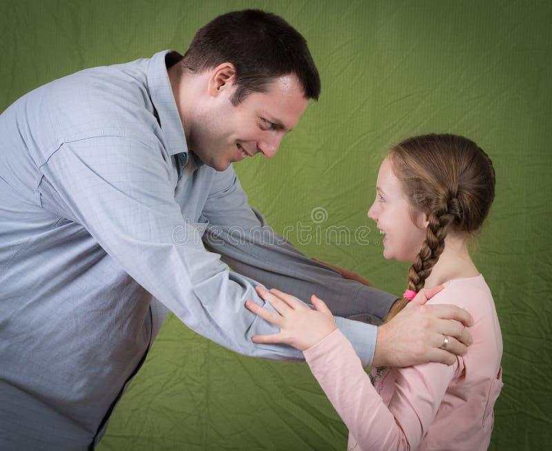 父亲和女儿 免版税图库摄影