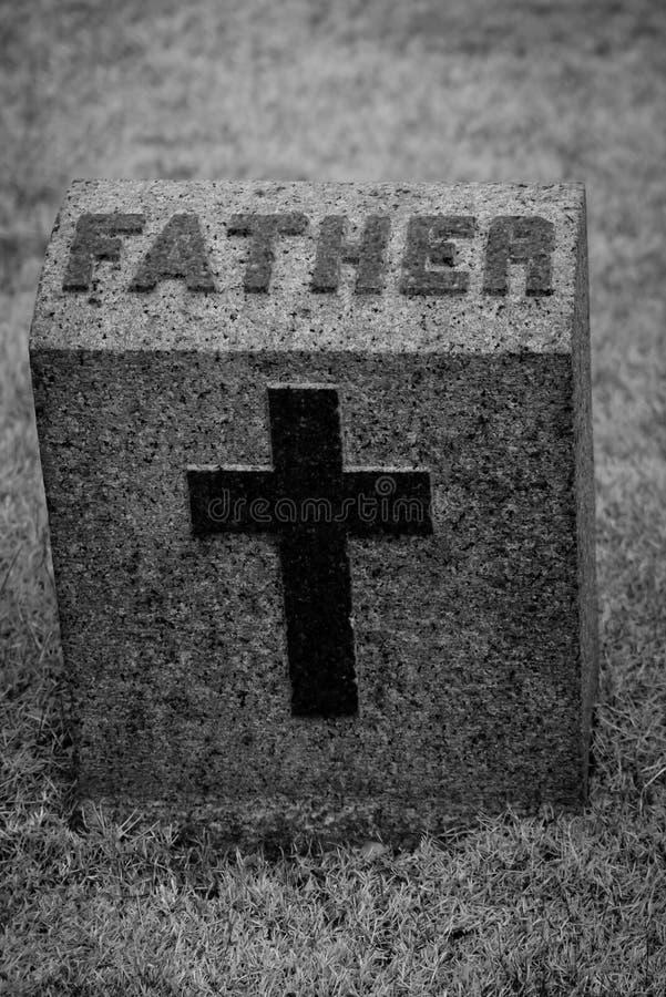 父亲墓石 库存图片