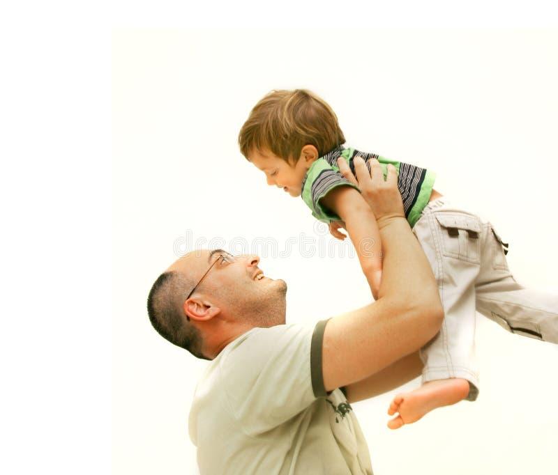 父亲爱恋的儿子 免版税库存图片