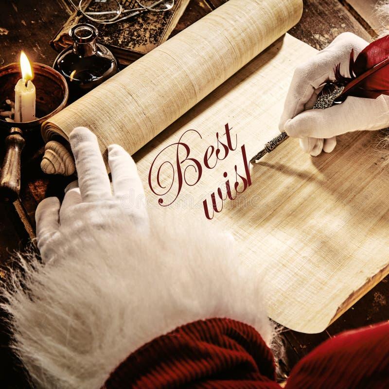 父亲的圣诞节写招呼的祝福满满 库存图片
