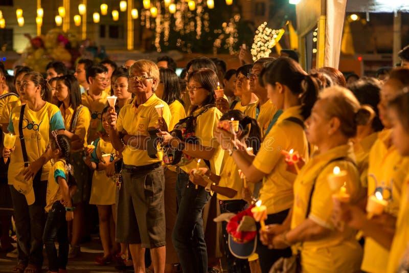 父亲节曼谷2015年 库存照片