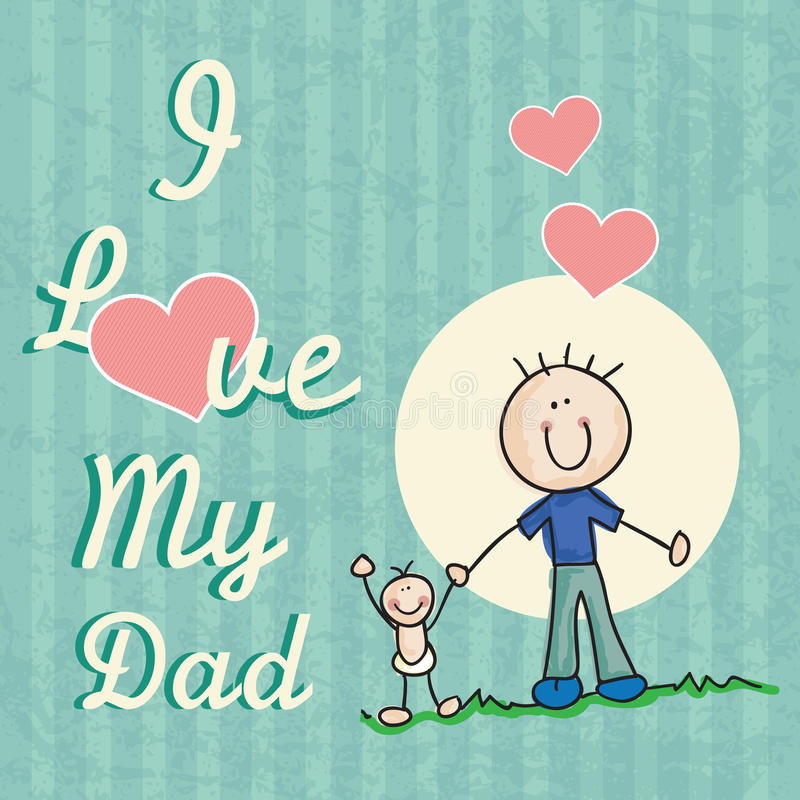 Download 父亲节象和卡片 向量例证. 插画 包括有 藏品, 敬慕, 做父母的, 爸爸, 愉快, 微笑, 拥抱, 人们 - 30331962