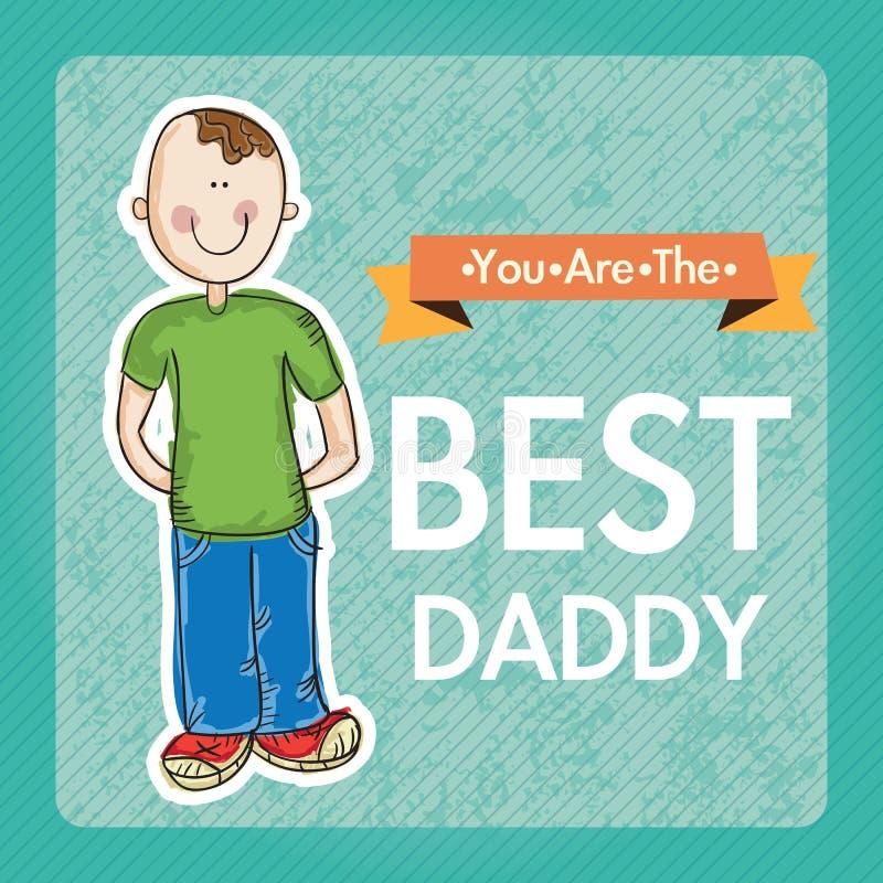Download 父亲节象和卡片 向量例证. 插画 包括有 使用, 乐趣, beautifuler, 成人, 做父母的, 敬慕 - 30332047