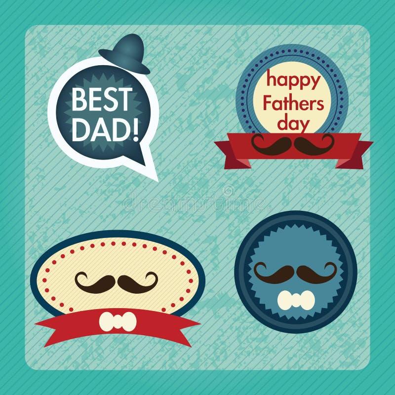 Download 父亲节象和卡片 向量例证. 插画 包括有 子项, 快乐, 爸爸, 逗人喜爱, 使用, 人们, 父项, 敬慕 - 30332074
