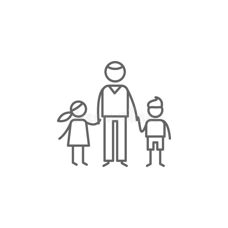 父权,儿童象 家庭生活象的元素 : 库存例证