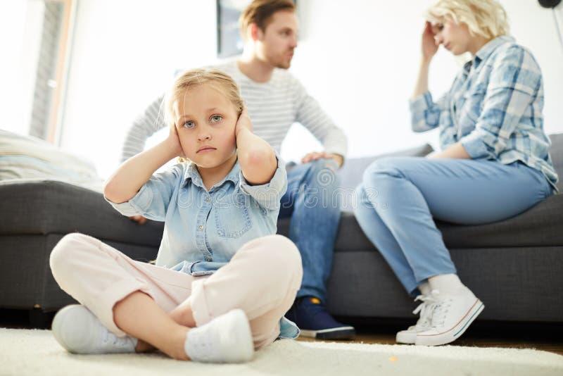 父母争论 免版税库存图片