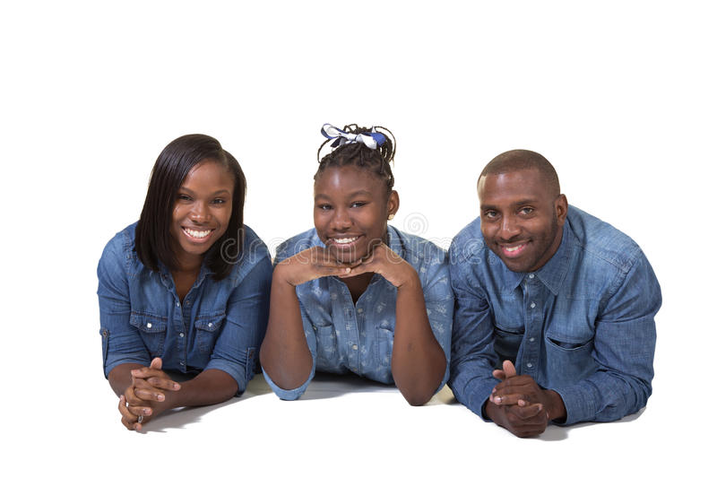 父母和他们的十几岁的女儿 免版税库存图片