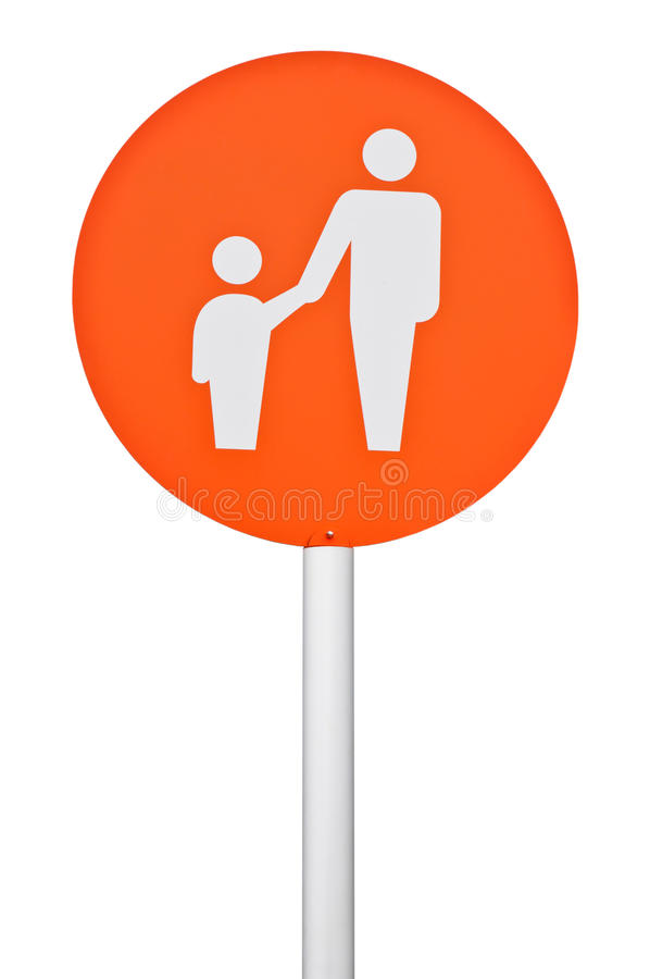 父项和儿童停车符号 库存图片