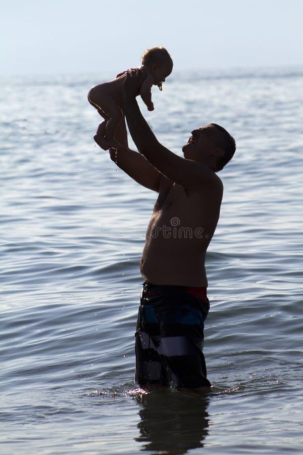 爸爸和婴孩 库存图片