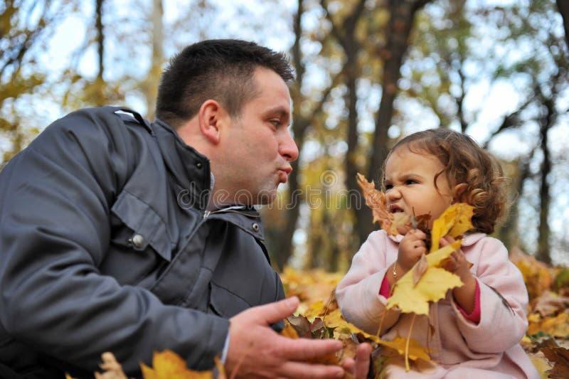爸爸女儿 免版税图库摄影