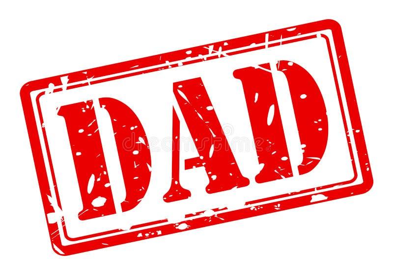 爸爸红色邮票文本 库存例证
