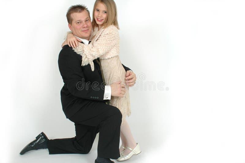 爸爸舞蹈女儿 免版税库存图片
