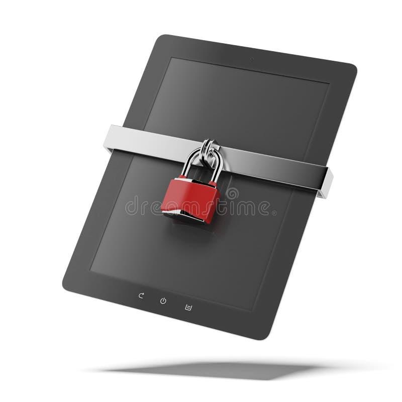 片剂个人计算机安全 库存例证