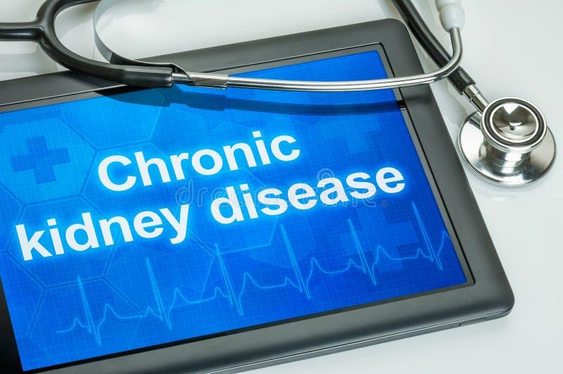 片剂以在显示的文本慢性肾病 免版税库存照片