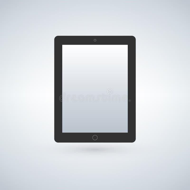 片剂屏幕象 现代简单的平的设备标志 时髦大模型显示标志 皇族释放例证