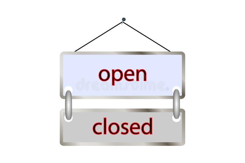 片剂开放闭合 向量 商店,葡萄酒,海报, 库存例证