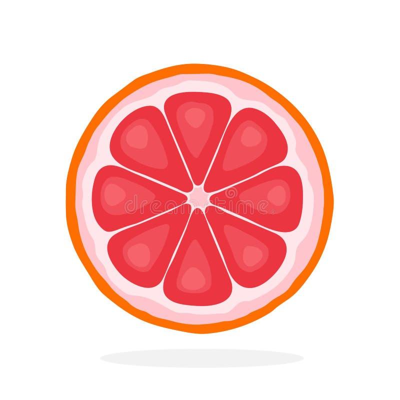 片式葡萄柚 皇族释放例证