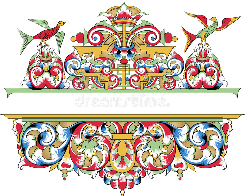 片段装饰正统模式向量 皇族释放例证