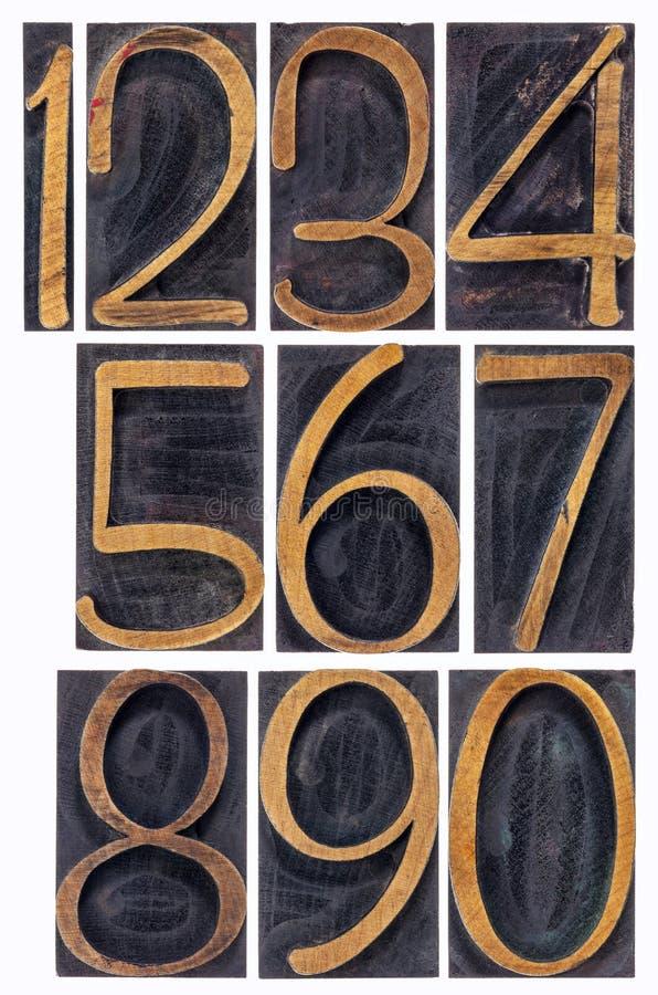 活版木类型被隔绝的数字 库存照片