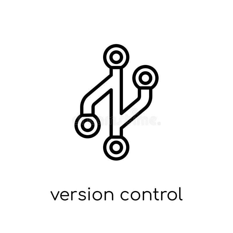 版本管理象 时髦现代平的线性传染媒介版本c 库存例证