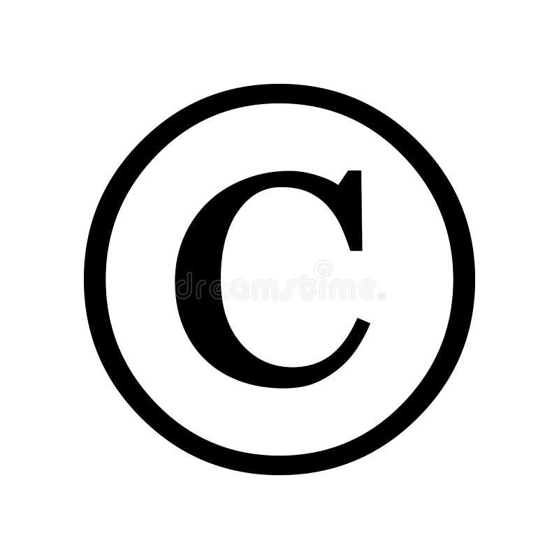 版权查出的符号白色 皇族释放例证