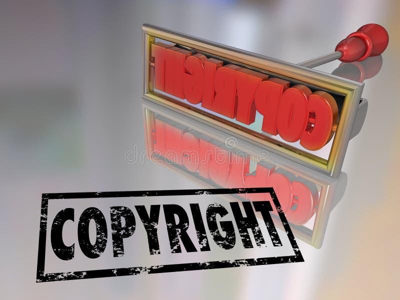 版权烙铁名字产品保护 向量例证