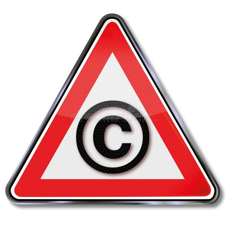 版权盾 向量例证