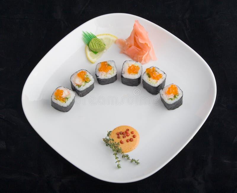牌照寿司 免版税库存照片