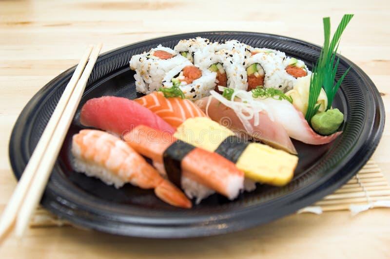 牌照寿司 库存照片