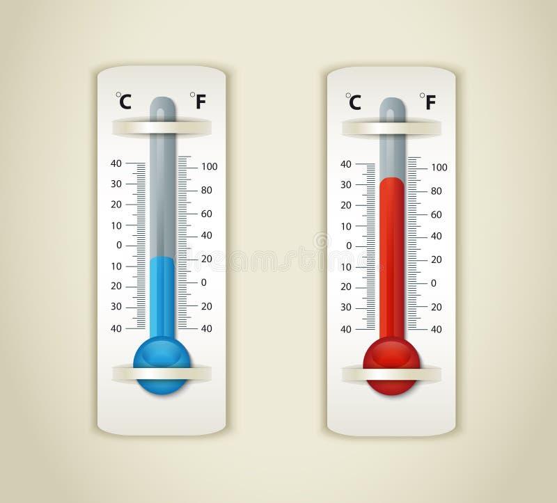 牌照温度计 库存例证