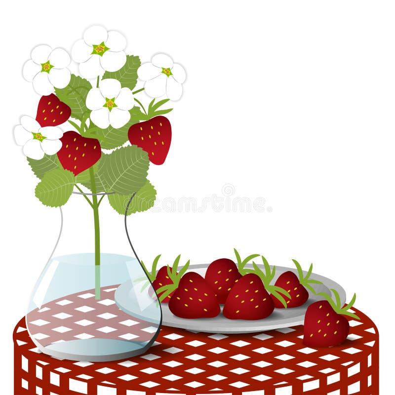 牌照用草莓 库存例证