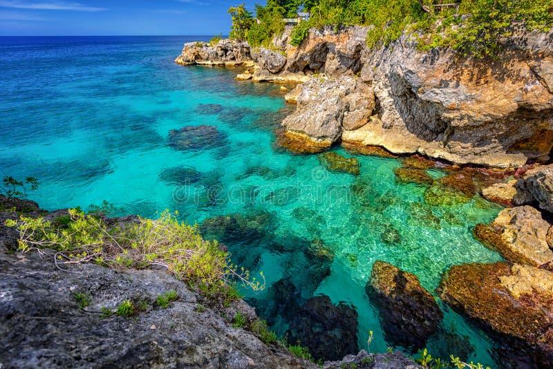 牙买加内格里尔海洋天堂 免版税库存照片